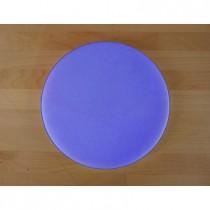 Tabla de cortar de polietileno redonda diámetro 30 cm azul - espesor 25 mm