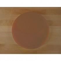 Tabla de cortar de polietileno redonda diámetro 30 cm marrón - espesor 25 mm
