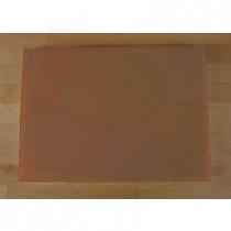 Tabla de cortar de polietileno rectangular 50X70 cm marrón - espesor 10 mm