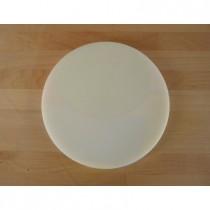 Tabla de cortar de polietileno redonda diámetro 30 cm blanca - espesor 25 mm