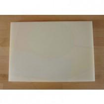 Tabla de cortar de polietileno rectangular 50X70 cm blanca - espesor 10 mm