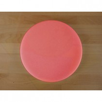 Tabla de cortar de polietileno redonda diámetro 30 cm roja - espesor 25 mm