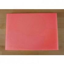 Tabla de cortar de polietileno rectangular 50X70 cm roja - espesor 10 mm