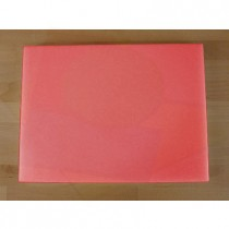 Tabla de cortar de polietileno rectangular 30X40 cm roja - espesor 25 mm
