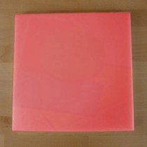 Tabla de cortar de polietileno quadrada 40X40 cm roja - espesor 10 mm