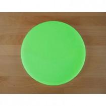 Tabla de cortar de polietileno redonda diámetro 30 cm verde - espesor 25 mm