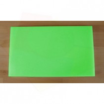 Tabla de cortar de polietileno rectangular 30X50 cm verde - espesor 10 mm