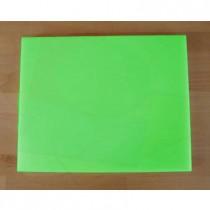 Tabla de cortar de polietileno rectangular 40X50 cm verde - espesor 10 mm