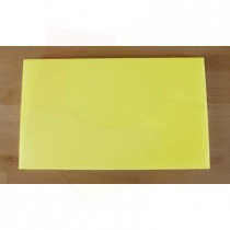 Tabla de cortar de polietileno rectangular 30X50 cm amarilla - espesor 10 mm