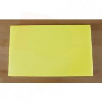 Tabla de cortar de polietileno rectangular 50X80 cm amarilla - espesor 10 mm