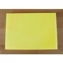 Tabla de cortar de polietileno rectangular 50X70 cm amarilla - espesor 10 mm