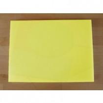 Tabla de cortar de polietileno rectangular 30X40 cm amarilla - espesor 10 mm