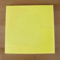 Tabla de cortar de polietileno quadrada 40X40 cm amarilla - espesor 10 mm