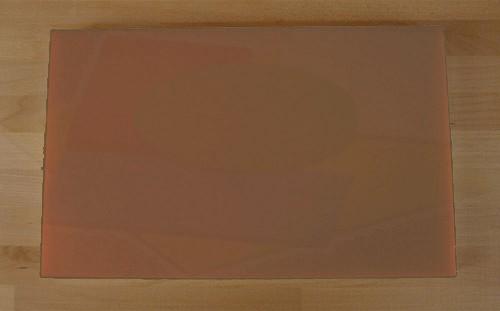 Tabla de cortar de polietileno rectangular 50X80 cm marrón - espesor 10 mm