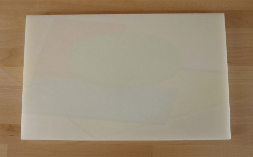Tabla de cortar de polietileno rectangular 50X80 cm blanca - espesor 10 mm