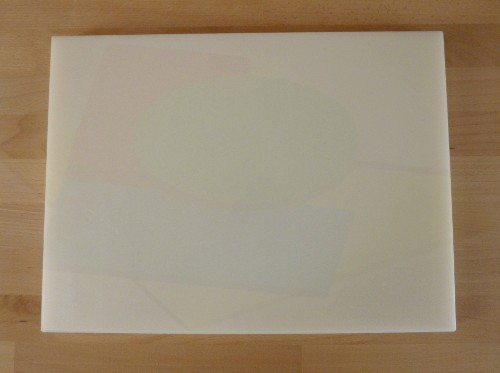 Tabla de cortar de polietileno rectangular 30X40 cm blanca - espesor 10 mm