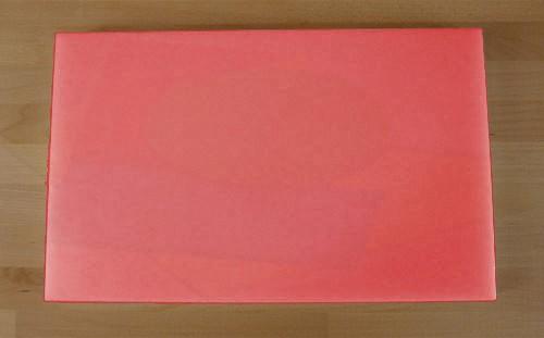 Tabla de cortar de polietileno rectangular 50X80 cm roja - espesor 15 mm
