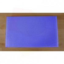 Tabla de cortar de polietileno rectangular 30X50 cm azul - espesor 10 mm