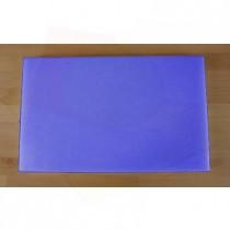 Tabla de cortar de polietileno rectangular 50X80 cm azul - espesor 10 mm