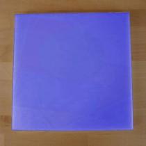 Tabla de cortar de polietileno quadrada 40X40 cm azul - espesor 10 mm