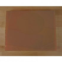 Tabla de cortar de polietileno rectangular 40X50 cm marrón - espesor 10 mm