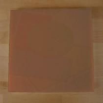 Tabla de cortar de polietileno quadrada 40X40 cm marrón - espesor 10 mm