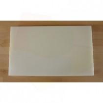 Tabla de cortar de polietileno rectangular 30X50 cm blanca - espesor 10 mm
