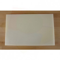 Tabla de cortar de polietileno rectangular 40X60 cm blanca - espesor 10 mm