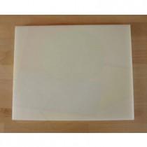 Tabla de cortar de polietileno rectangular 40X50 cm blanca - espesor 10 mm
