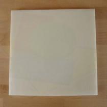 Tabla de cortar de polietileno quadrada 40X40 cm blanca - espesor 10 mm