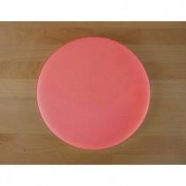 Tabla de cortar de polietileno redonda diámetro 30 cm roja - espesor 10 mm
