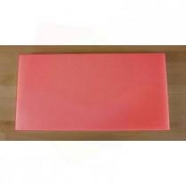 Tabla de cortar de polietileno rectangular 40X80 cm roja - espesor 10 mm