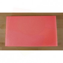 Tabla de cortar de polietileno rectangular 30X50 cm roja - espesor 10 mm