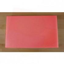 Tabla de cortar de polietileno rectangular 50X80 cm roja - espesor 10 mm