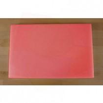 Tabla de cortar de polietileno rectangular 40X60 cm roja - espesor 10 mm