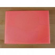 Tabla de cortar de polietileno rectangular 30X40 cm roja - espesor 10 mm