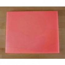 Tabla de cortar de polietileno rectangular 40X50 cm roja - espesor 10 mm