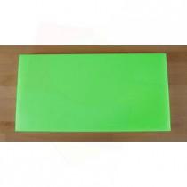 Tabla de cortar de polietileno rectangular 40X80 cm verde - espesor 10 mm