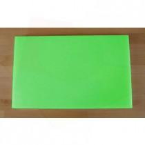 Tabla de cortar de polietileno rectangular 50X80 cm verde - espesor 10 mm
