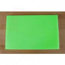Tabla de cortar de polietileno rectangular 40X60 cm verde - espesor 10 mm