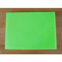 Tabla de cortar de polietileno rectangular 30X40 cm verde - espesor 10 mm