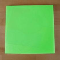 Tabla de cortar de polietileno quadrada 40X40 cm verde - espesor 10 mm