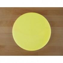 Tabla de cortar de polietileno redonda diámetro 30 cm amarilla - espesor 10 mm