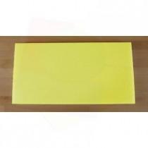 Tabla de cortar de polietileno rectangular 40X80 cm amarilla - espesor 10 mm