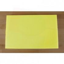 Tabla de cortar de polietileno rectangular 40X60 cm amarilla - espesor 10 mm
