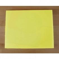 Tabla de cortar de polietileno rectangular 40X50 cm amarilla - espesor 10 mm